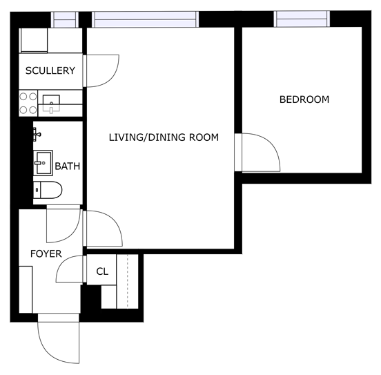 2D floor plan for real estate agents
