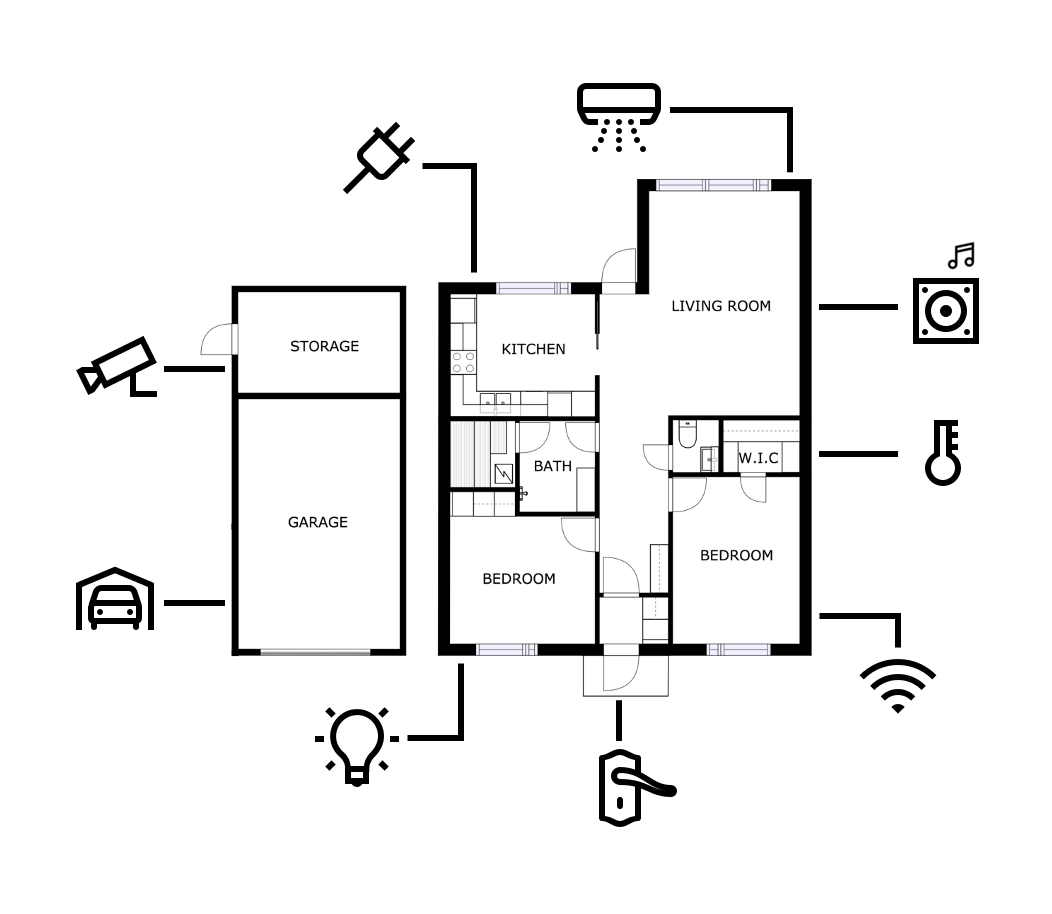 floor plan as a user interface