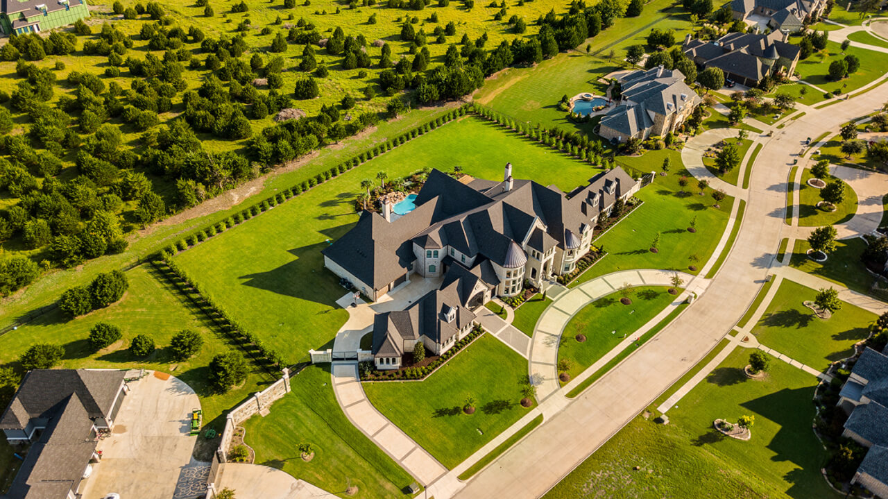 aerial photography using drones to take real estate photos