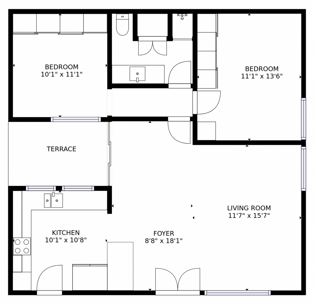stylish and simple floor plan