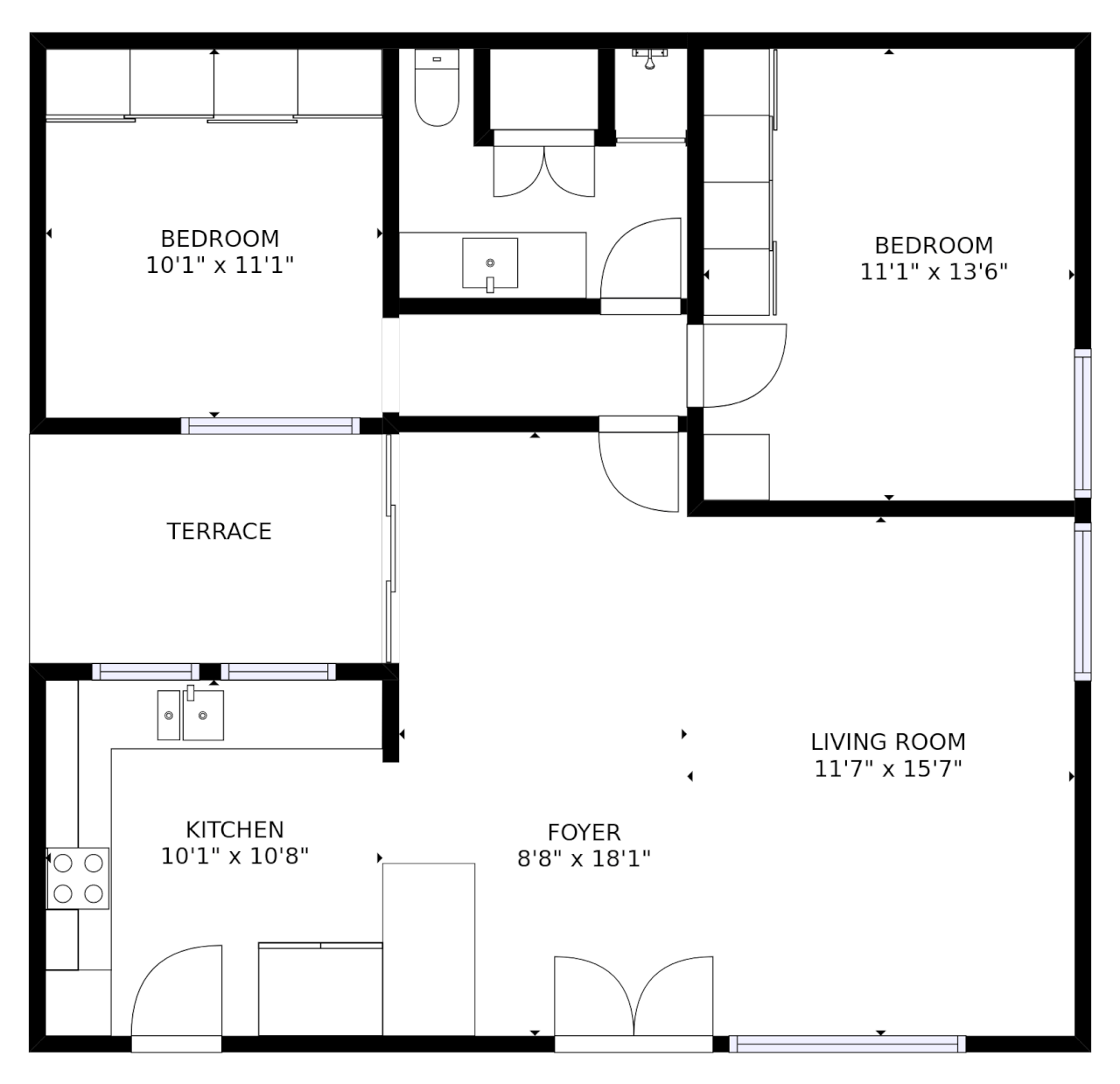 stylish and simple floorplans