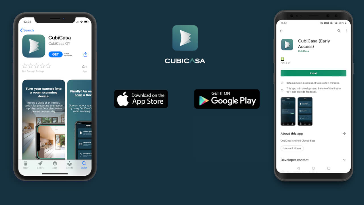 cubicasa floor plan app for android and ios