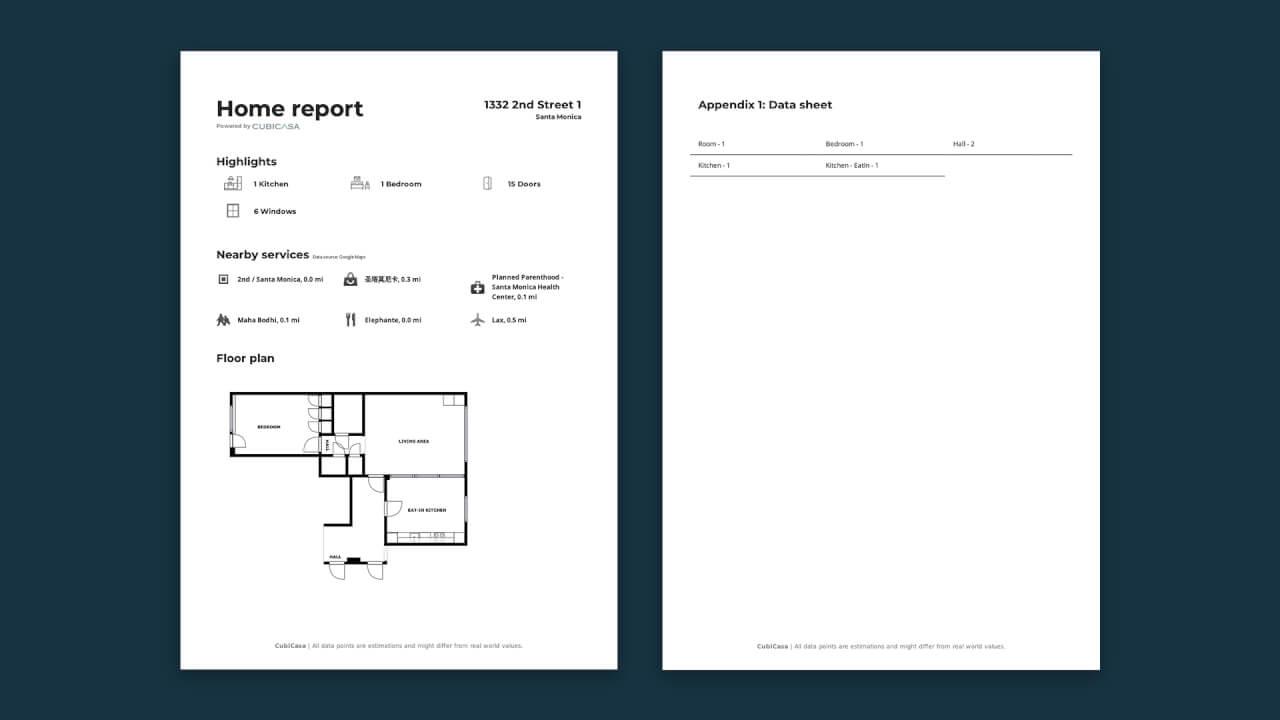 home report cubicasa app