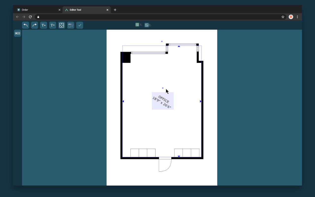 cubicasa quick edit rotate labels