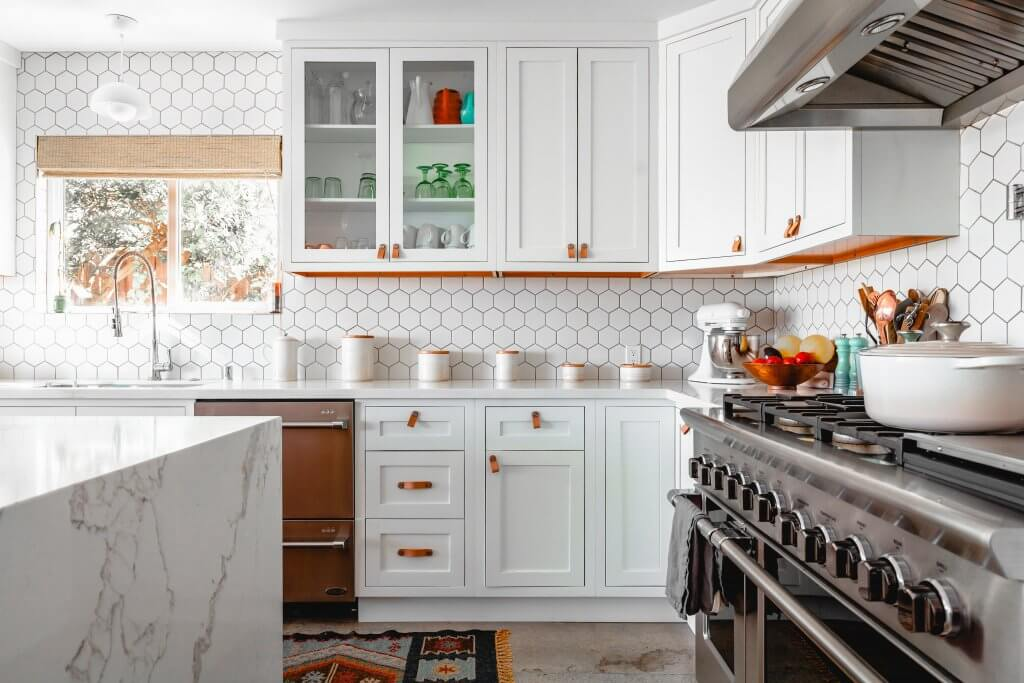buying a home with a white kitchen