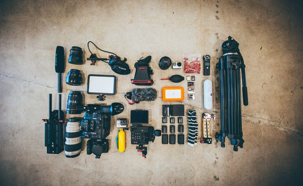 Collection of photography equipment