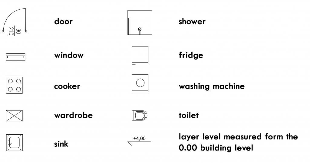 floor plan icons meaning