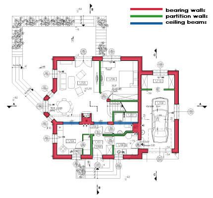 walls floor plan