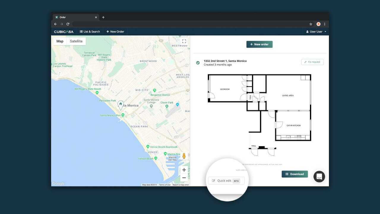 add free text to cubicasa floor plan