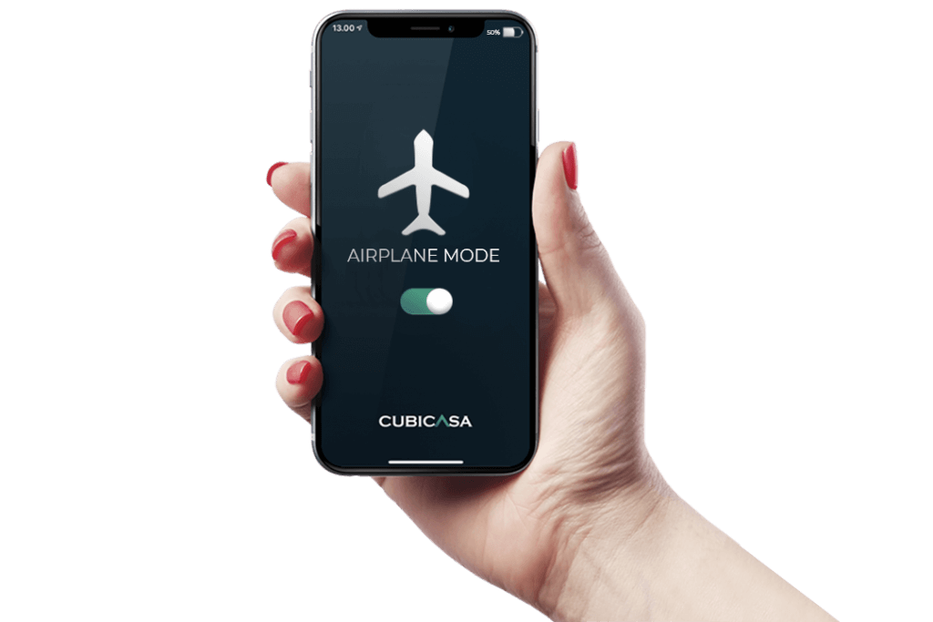 airplane mode cubicasa