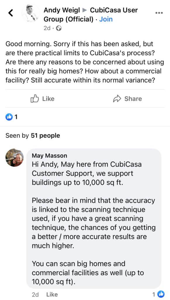 CubiCasa Facebook group