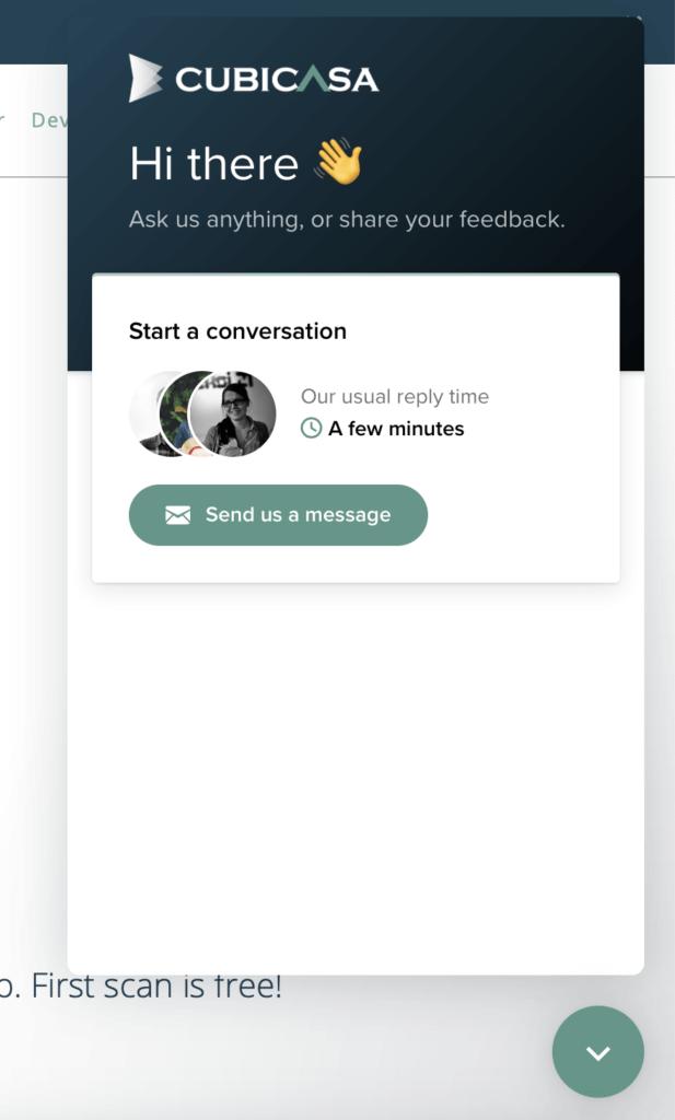 CubiCasa help chat