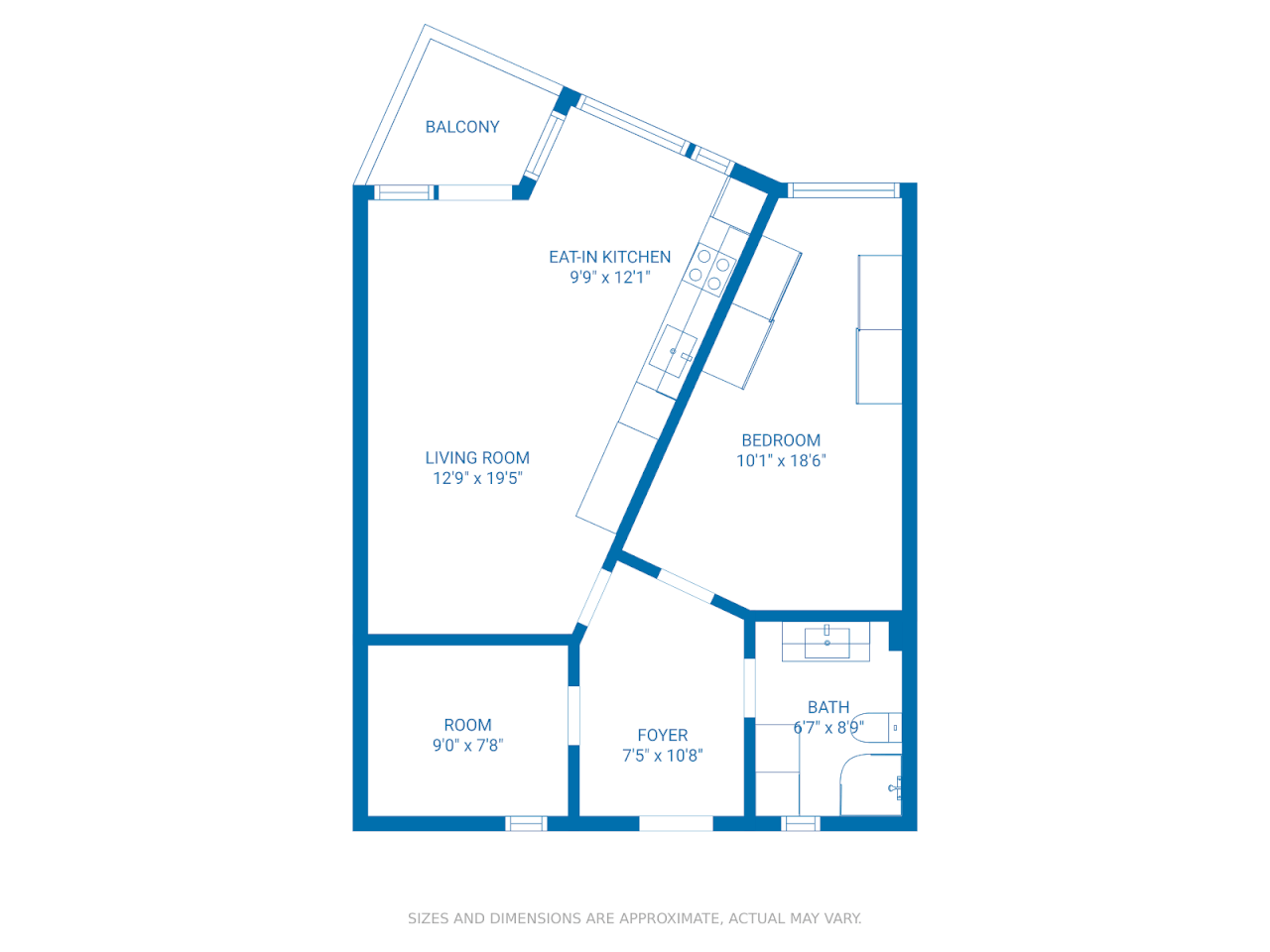 Floor plan theme: Blueprint