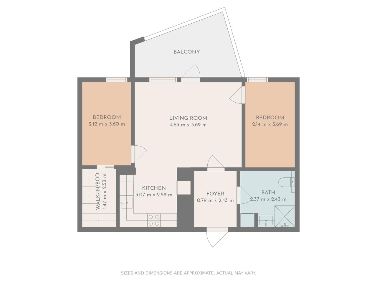 Floor plan theme: Earth Tones