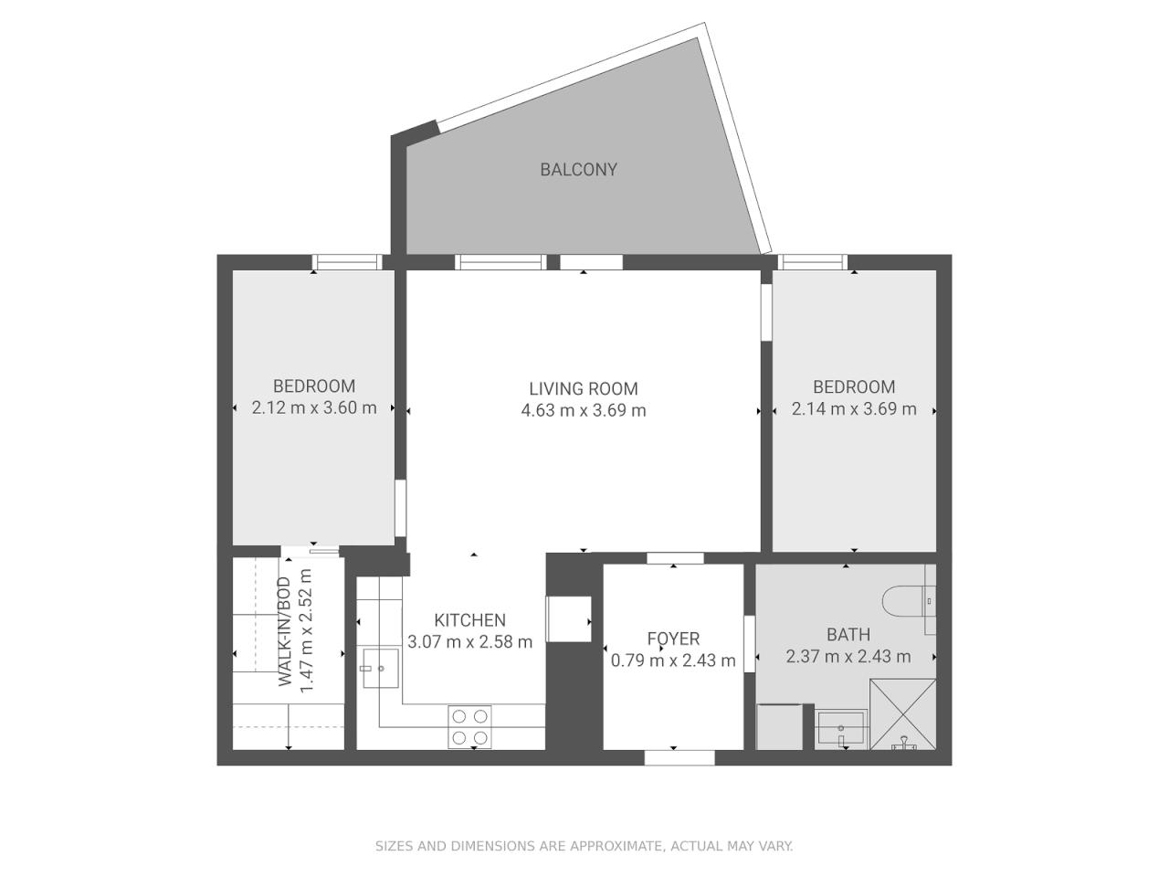 Floor plan theme: Grayscale