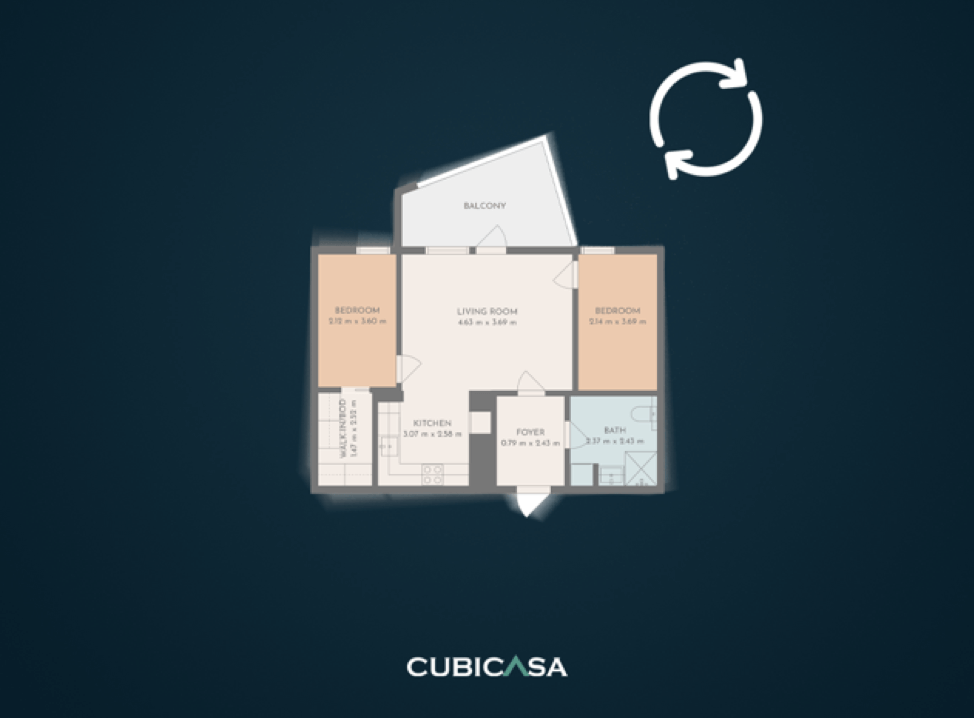 CubiCasa 2.0 floor plan rotation