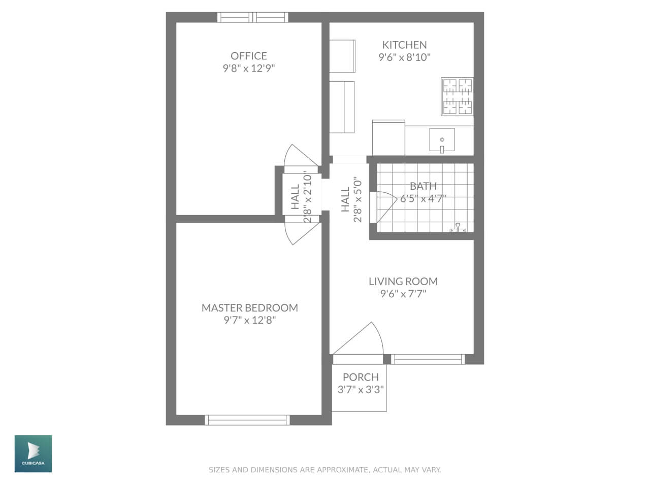 floor plan with master label