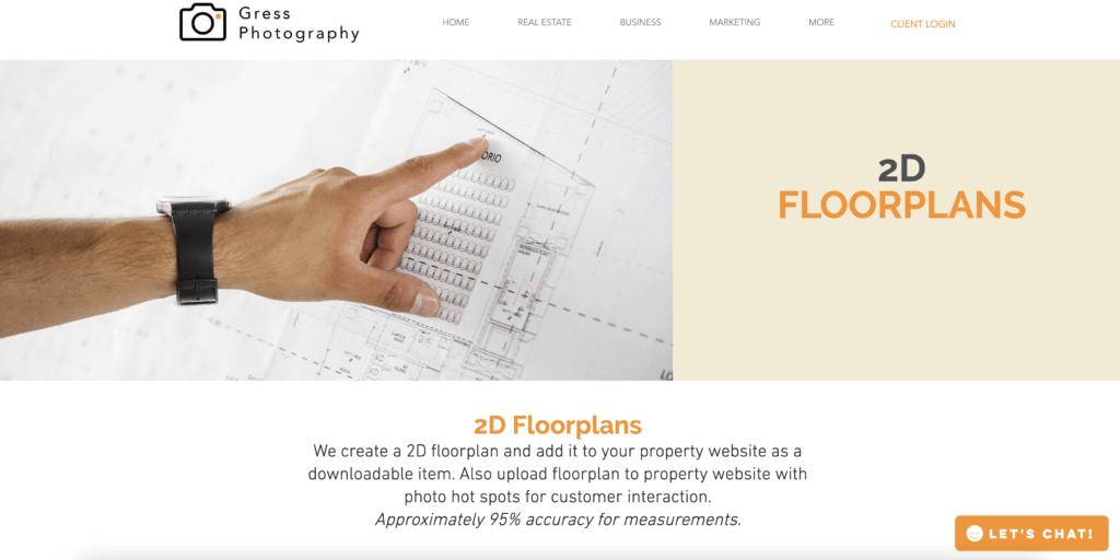 Gress Photography Floor Plans
