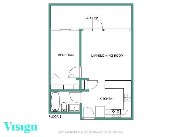 floor plan samples small condo green walls metric with logo