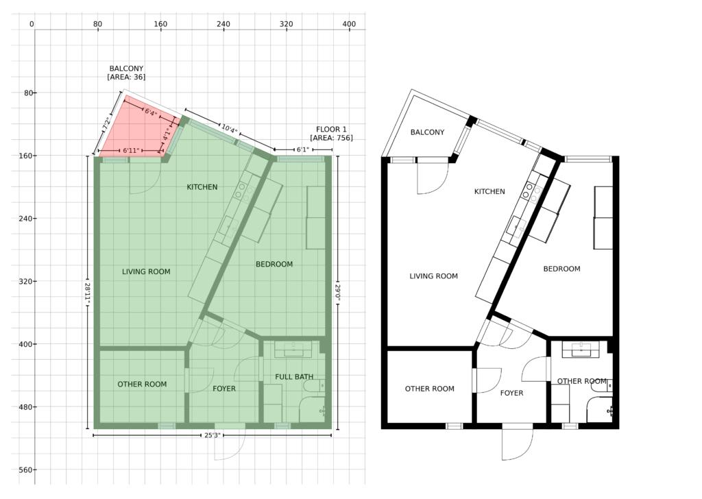 digital GLA floor plan