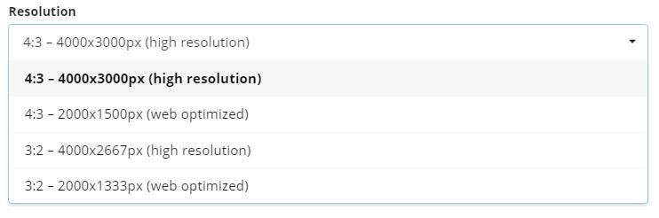 select resolution