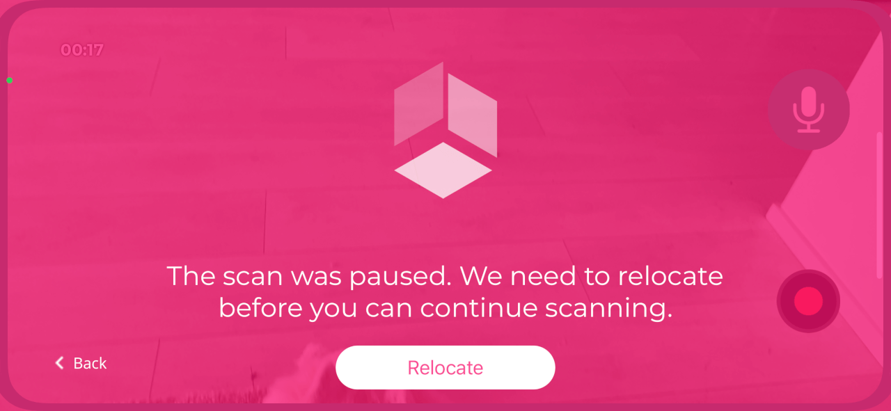 scan was paused
