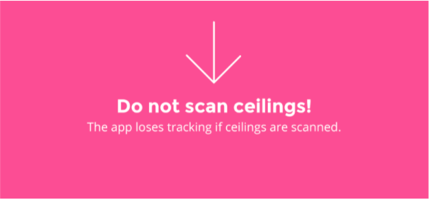 Do not scan ceilings