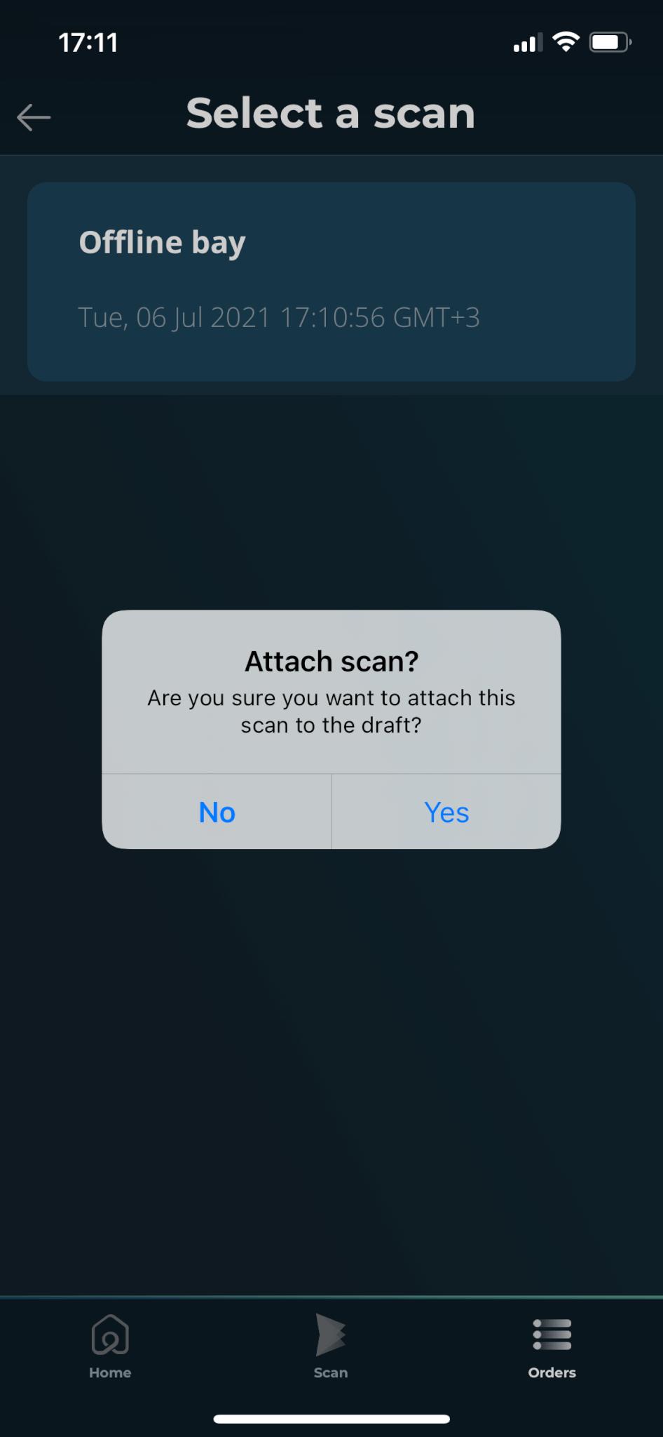 Attach a scan